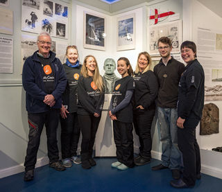 The core team of four at the Museum was swelled to seven with an Artist in Residence, Fundraising Assistant and extra help from one of the Rat Team. Left to Right - Pat, Sarah, Dani, Charlotte, Vickie, Theo and Kerstin