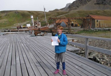Jack and his poem at Grytviken