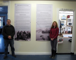 Dag and Deirdre with the newly mounted African Whalers exhibition