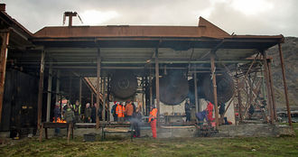 The Meat Loft in the whaling factory proved an atmospheric location for an evening BBQ