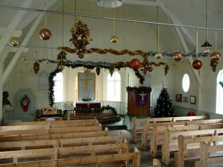 The Whaler's Church bedecked.