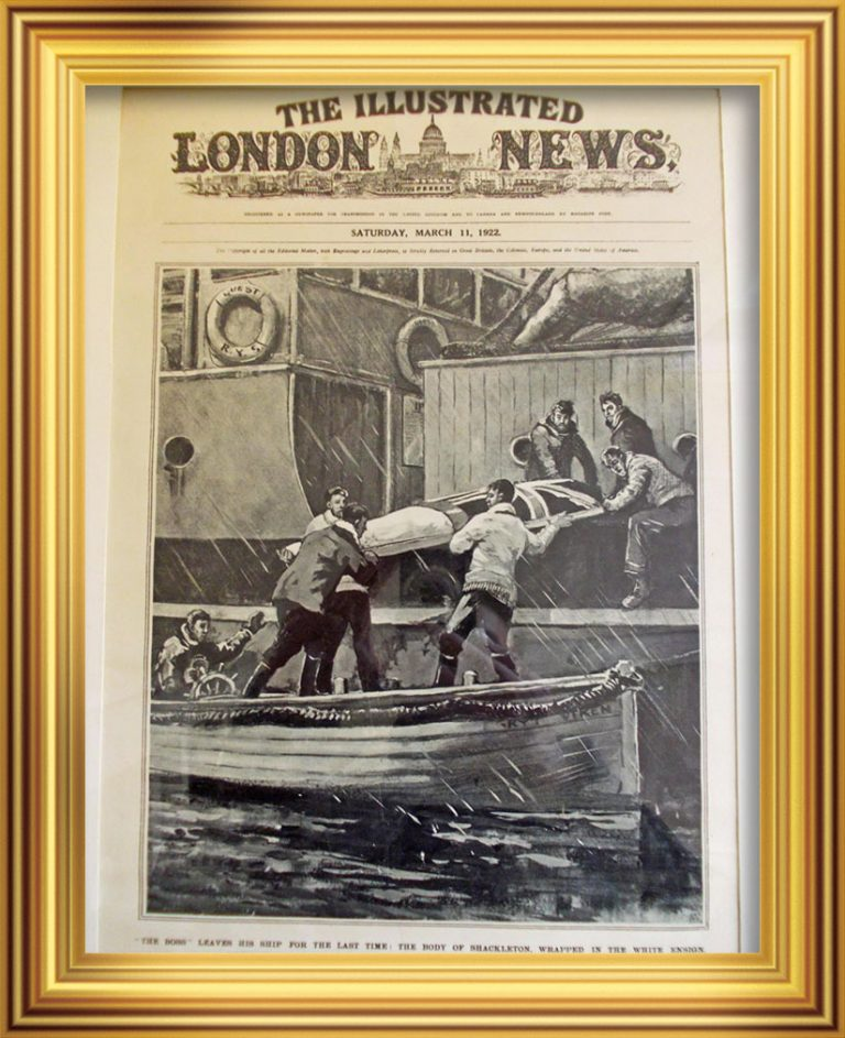 'The Boss' Leaves his Ship for the Last Time. 'The Illustrated London News', March 1922 South Georgia Museum:2012.31