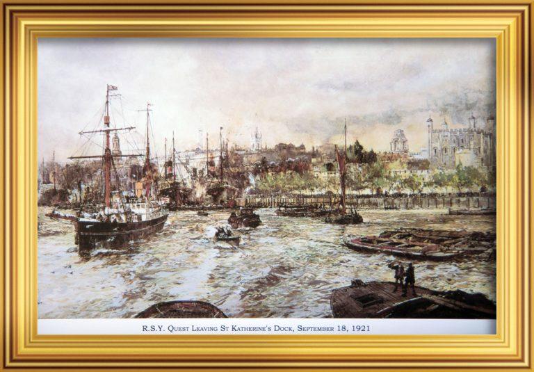 R.S.Y Quest Leaving St Katharine Docks September 18, 1921