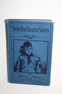 Into the Frozen South by Scout Marr (1927 edition, signed by K.Coleman) Scout James Marr's account of the Quest Expedition. James Marr went on to join the Royal Naval Volunteer Reserve and in 1943 was recalled from operations in the Far East to lead Operation Tabarin, a covert operation in the Antarctic. After the war Operation Tabarin became The Falkland Islands Dependencies Survey, which, in turn, was renamed the British Antarctic Survey. An eminent Marine Biologist, who also worked as part of the Discovery Investigations, James Marr went on to write the major reference work on Antarctic Krill, the basic component of the Antarctic food chain. South Georgia Museum.D.1996.216