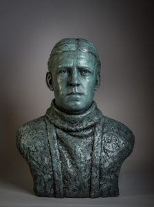 Bronze bust of Sir Ernest Shackleton by Anthony Smith South Georgia Museum: 2019.20