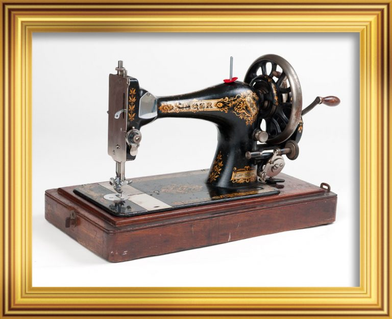 James Dell's sewing machine. Dell took this sewing machine on his expeditions with both the Discovery and the Quest. It was used to make the shroud, made from an old sail, for Ernest Shackleton's body. On loan from the Dundee Heritage Trust.