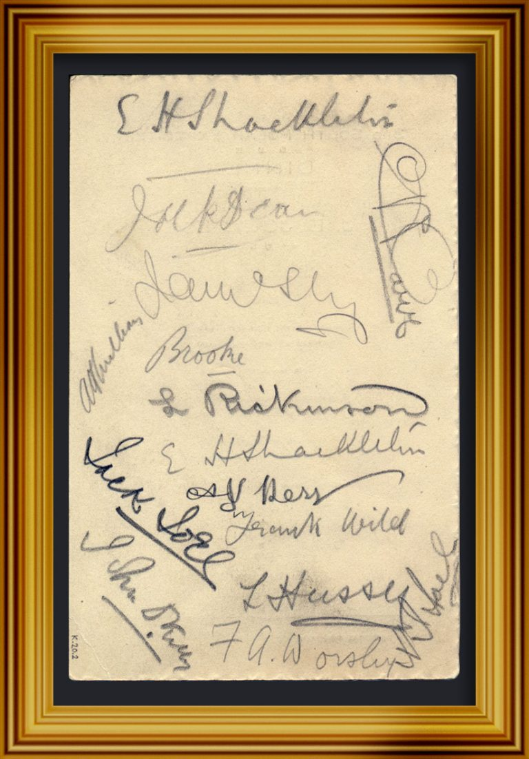 Signatures from a dinner to raise funds for the expedition Image ©Dundee Heritage Trust