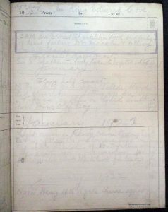 Deck log of the Quest The Quest deck log includes the entry made by Frank Worsley in the early hours of the morning on 5 January 1921. On loan from the Scott Polar Research Institute.