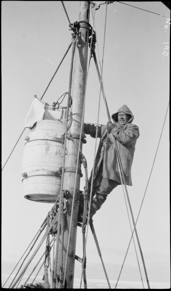 Wild climbing to the crow's nest of Quest Image courtesy of State Library of New South Wales