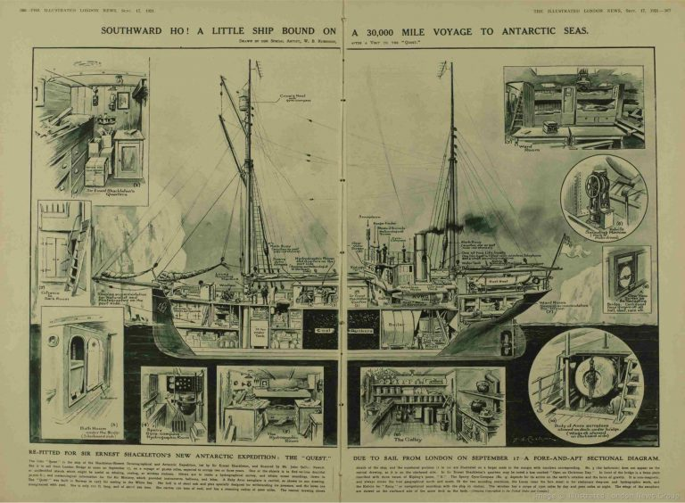 The deck plan and equipment's of the Quest Image © The London Illustrated News